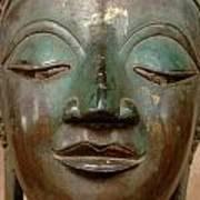 Face Of Bronze Buddha  Art Print
