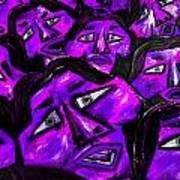 Faces - Purple Art Print