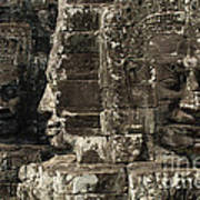Faces Of Banyon Angkor Wat Cambodia Art Print