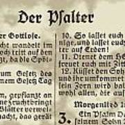 Faded Old German Bible Page Art Print