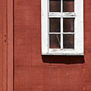 Faded Red Wood Farm Barn Art Print