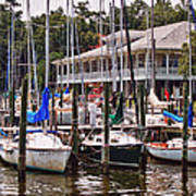 Fairhope Yacht Club Sailboat Masts Art Print