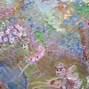 Fairies By The Pool Art Print