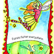 Fairies Flutter Everywhere Art Print