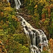 Fall At Whitewater Falls  Art Print