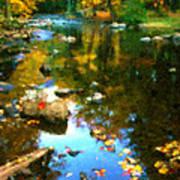 Fall Color At The River Art Print by Suni Roveto