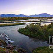 Fall Creek Panorama Art Print