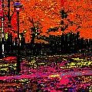 Fall In Red Art Print