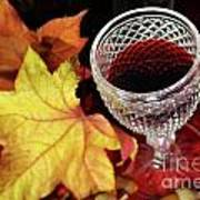 Fall Red Wine Art Print