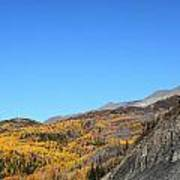 Fall Talkeetna Mountains Art Print