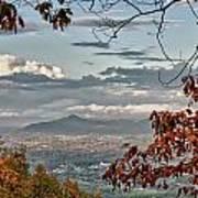 Fall View From Roanoke Mountain Art Print