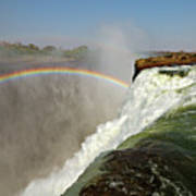 Falling Down  Falls, Zambia Art Print