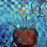 Falling Into Blue Art Print