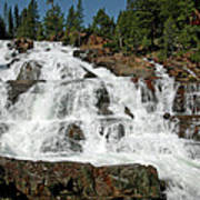 Falls Glen Alpine Falls Tahoe Art Print