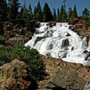 Falls In Site Glen Alpine Falls Art Print