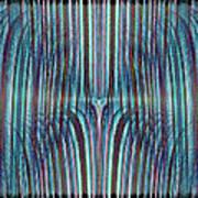 Falls Of Blue Art Print