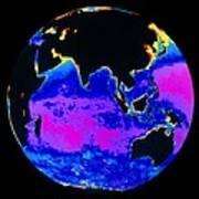 False Colour Image Of The Indian Ocean Art Print by Dr Gene Feldman, Nasa Gsfc