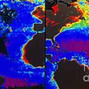 False-colour Satellite Images Art Print by Dr. Gene Feldman, NASA Goddard Space Flight Center