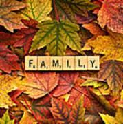 Family-autumn Inpsireme Art Print