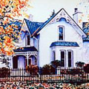 Family Home Portrait Art Print