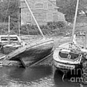 Family Wharf At Kittery Point In Maine 1900 Art Print by Padre Art
