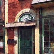 Fancy Green Door Burlington Nj Art Print