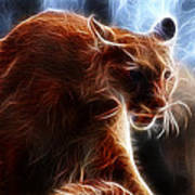 Fantasy Cougar Art Print by Paul Ward