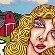 Farm Girl Art Print
