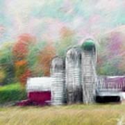 Farm In Fractals Art Print
