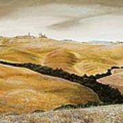 Farm On Hill - Tuscany Art Print