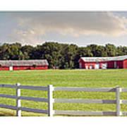 Farm Pasture Art Print by Brian Wallace