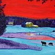 Farm Pond Art Print
