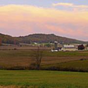 Farm Scene From Knoll On Rt. 41  Art Print
