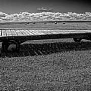 Farm Wagon In A Field On Prince Edward Island Art Print