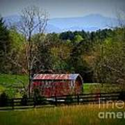 Farm With A View Art Print by Crystal Joy Photography