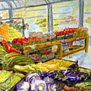 Farmer's Market In Fort Worth Texas Art Print
