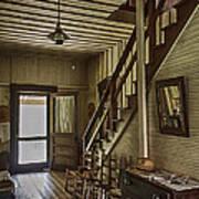 Farmhouse Entry Hall And Stairs Art Print by Lynn Palmer