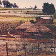 Farming In The Rift Valley Art Print