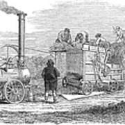Farming: Threshing, 1851 Art Print