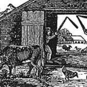 Farming: Threshing Art Print