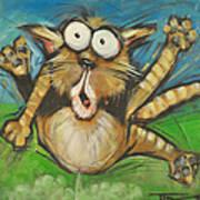 Farting Feline Art Print