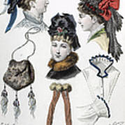 Fashion: Hats, C1875 Art Print