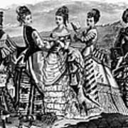 Fashion: Womens, 1874 Art Print