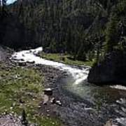 Fast Rapids On Firehole River Yellowstone  Art Print