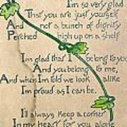 Fathers Day Card, 1912 Art Print