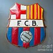 Fc Barcelona Symbol Art Print