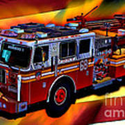 Fdny Engine 68 Art Print