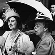Fdr Presidency. British Queen Elizabeth Art Print