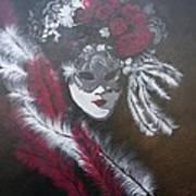 Feathered Rose Art Print