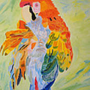 Feathers Showing God's Painting Art Print